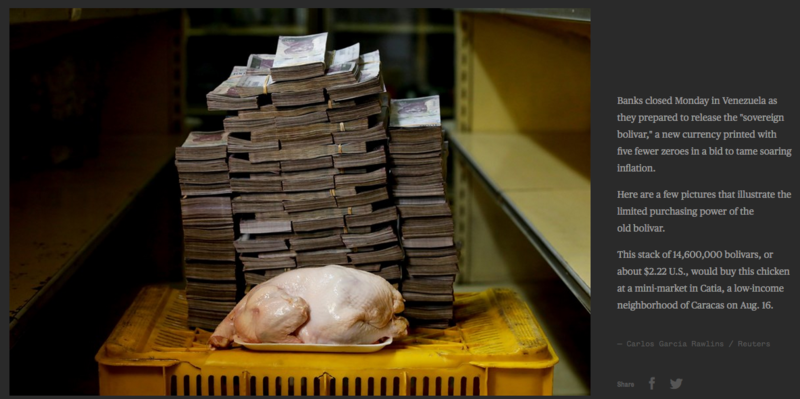 14,600,000 bolivars, or about 2.22 U.S. dollars would buy this chicken in venezuela .png